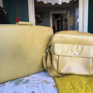 Vintage Sear's Courier 2-Piece Luggage Set